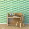 Rouleau de papier peint - 9008 - Cube 3D jaune et turquoise
