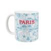 Mug Plan de Paris bleu