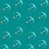 papier peint oiseaux vert maison leconte seabirds