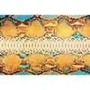 Tapis vinyle Peau de Serpent colorée