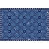 tapis lola bleu