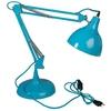Lampe de bureau articulée en métal avec tête orientable hauteur 75cm bleue