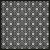 Tapis vinyle Andalouz Hexa B&W