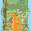 papier peint enfant 7507 Le corbeau et le renard maison leconte