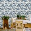 Rouleau de papier peint 9051 La belle vie bleu paris france maison leconte