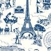 Rouleau de papier peint 9051 La belle vie bleu paris