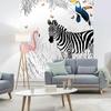 Papier peint adhésif panoramique - PPP1190 - Scène Animaux Zèbre
