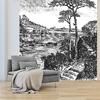 Papier peint adhésif panoramique - PPP1197 - Gravure Paysage