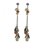 Boucles d'oreilles Tintinabulle Ambre