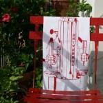 Torchon expresso retro rouge