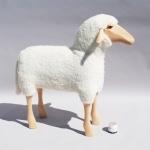 Grand mouton blanc - Tabouret - Hanns Peter Krafft