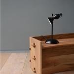 Lampe à pied droit Alouette - Noir