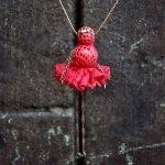 Sautoir - Danseuse rouge tango
