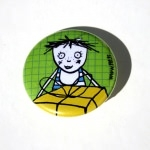 Badge - Lili cadeau vert