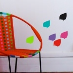 6 stickers Poussins - Couleur
