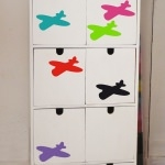 6 stickers Avions - Couleur