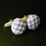 Boutons de manchette - Vichy Violet