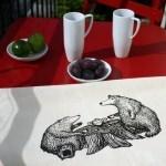 Torchon : Thé au fond des bois