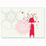 Carte postale : Nina amoureuse