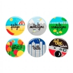 Lot de 6 magnets - En balade