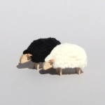 Mouton miniature déco Noir