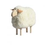 Mouton déco - Fourrure blanche