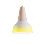 Lampe Suspension Eikon Métal Tie and Dye - Jaune