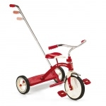 Tricycle rouge classic avec canne