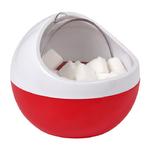 Sucrier boule design Rouge et Blanc