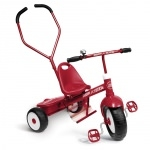 Tricycle rouge avec canne