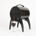 Winy Bar Noir - Fontaine de table pour vin en cubi et bag in box 3 litres