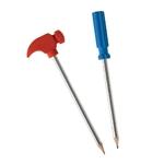 Crayons papier et gommes outils - Marteau et tournevis