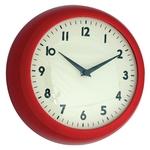 Horloge murale design Rétro Rouge