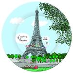 Assiette Paris Tour Eiffel - Petit Jour Paris