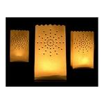 10 lanternes en papier découpé