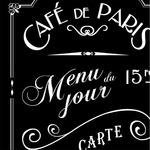 Lé de papier peint - 7009 - Café de Paris