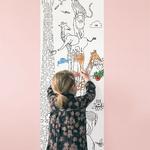Lé de papier peint - 7503 - Toise animaux à colorier