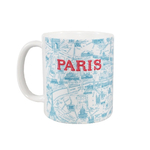 Mug Plan de Paris bleu