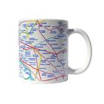 Mug Plan de métro Paris Eclair