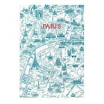 Cahier plan de Paris Bleu - Papeterie Originale