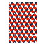 Cahier Paris Cube 3D Bleu Blanc Rouge - Papeterie originale