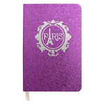 Carnet paillette Paris Tour Eiffel Rose - Papeterie originale
