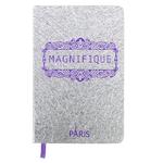 Carnet paillette Magnifique argent - Papeterie originale