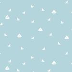 Rouleau de papier peint - 9030 - Petits bateaux bleu