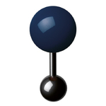 Boutons de manchette - Cufflinks BM 15  – Bleu