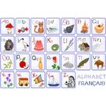 Tapis vinyle enfant alphabet français