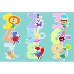 Tapis vinyle enfant chiffres animaux