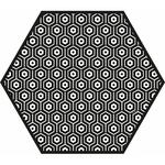 Tapis vinyle Hexagonal Andalouz Hexa B&W