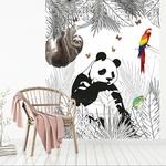 Papier peint adhésif panoramique - PPP1191 - Scène Animaux Panda