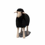 Petit agneau Noir - Tabouret enfant - Repose pied - Hanns Peter Krafft